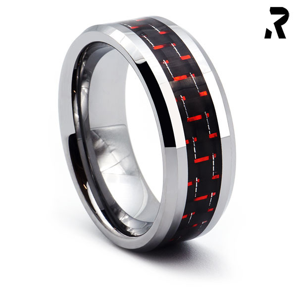 WOLFRAM CARBON RING Red Thunder