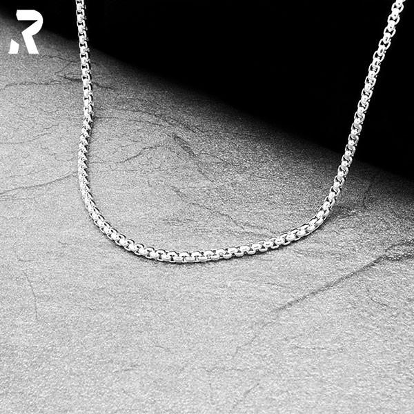 erbsenkette 3/3 mm, edelstahl, halskette, kette, silber