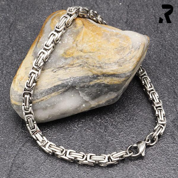 königsketten armband 4mm, für damen, für männer, männerarmband, farbe silber, damenarmband, geschenkidee damen & männer