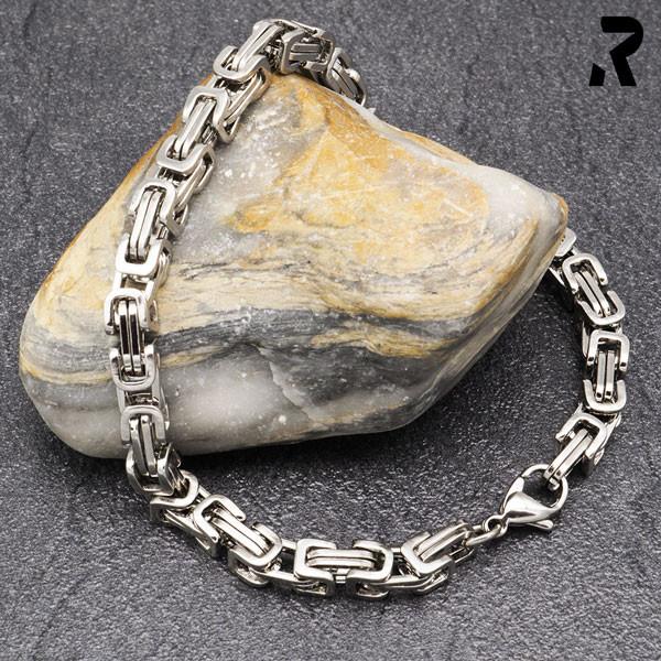 königsketten armband 5mm, für damen, für männer, männerarmband, farbe silber, damenarmband, geschenkidee damen & männer