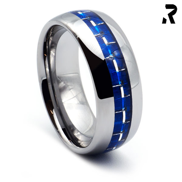 WOLFRAM CARBON RING Blue Racer