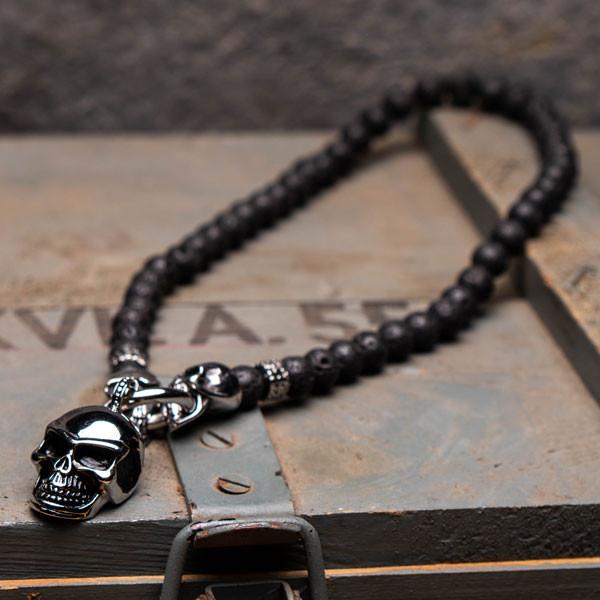 Totenkopf Halskette Skull Ruler