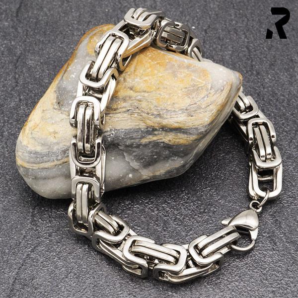 königsketten armband 8mm, für damen, für männer, männerarmband, farbe silber, damenarmband, geschenkidee damen & männer